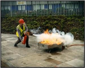 Extinguishing flames