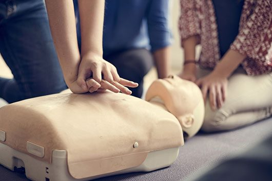 Thumbnail CPR first aid training technique
